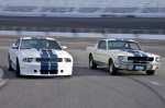2010 Shelby GT350 and 1965 Shelby GT350 Mustangs