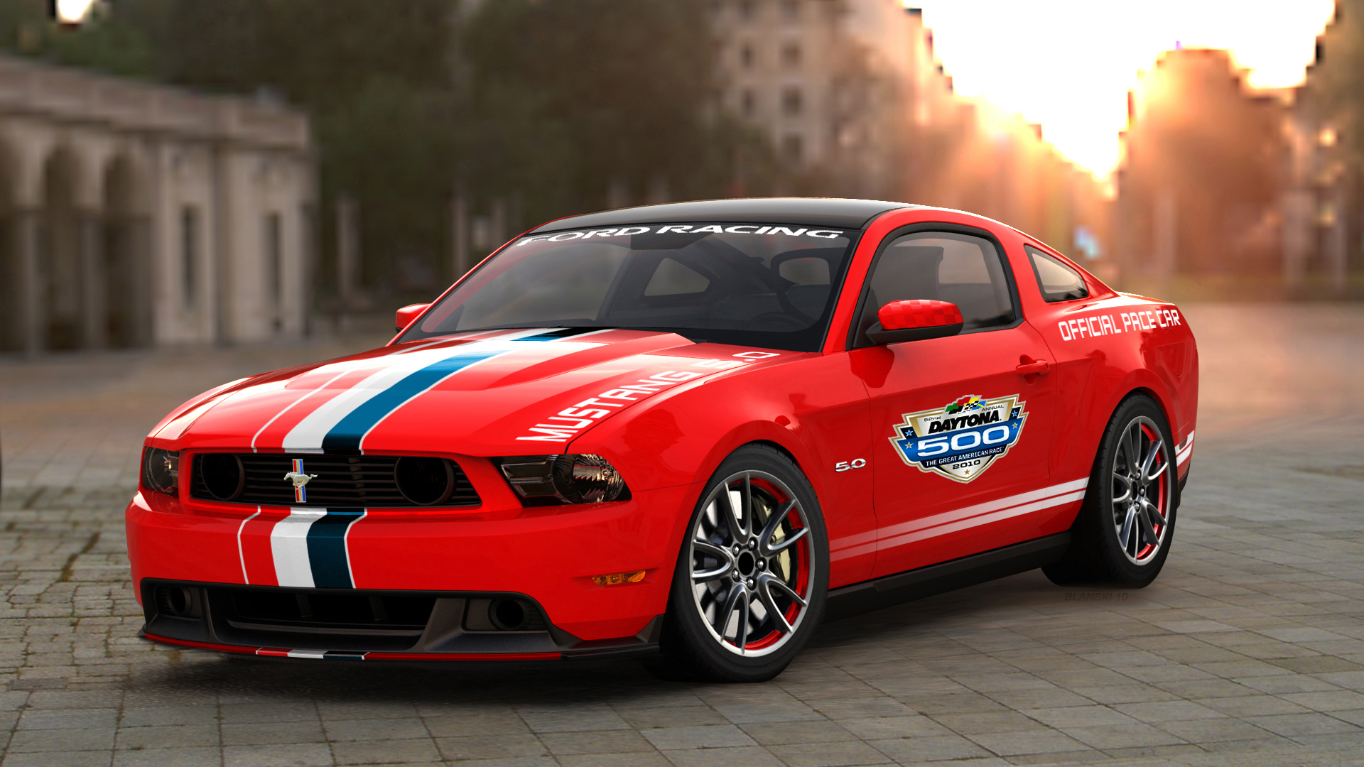 2011 ford mustang gt named daytona 500 pace car motor city muscle cars. Black Bedroom Furniture Sets. Home Design Ideas