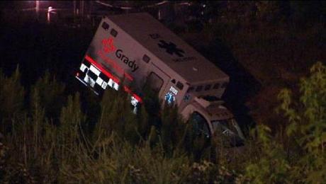 Stolen Ambulance Wrecked