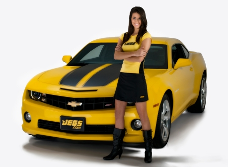 Jegs Camaro SS with Calendar Girl