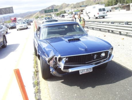 1969 Ford Mustang Wreck