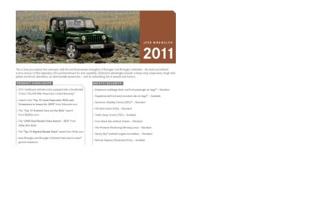 2011 Jeep Wrangler Order Guide