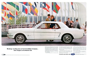 1964 World's Fair Ford Mustang Advertisement