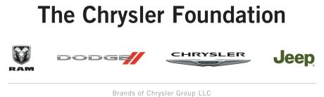 2011 Chrysler Foundation brand logos