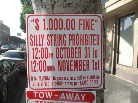 Hollywood Bans Silly String