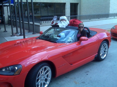 Santa Dodge Viper
