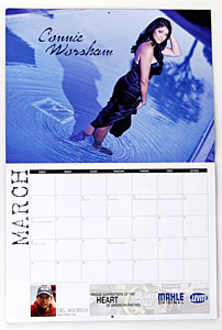 NHRA Housewives Calendar Connie Worshan (Del Worsham – Top Fuel Dragster)