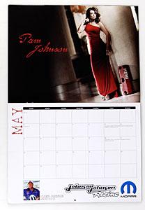 NHRA Housewives Calendar Pam Johnson (Allen Johnson, Pro Stock Car)