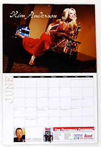 NHRA Housewives Calendar Kim Anderson (Greg Anderson – Pro Stock Car)