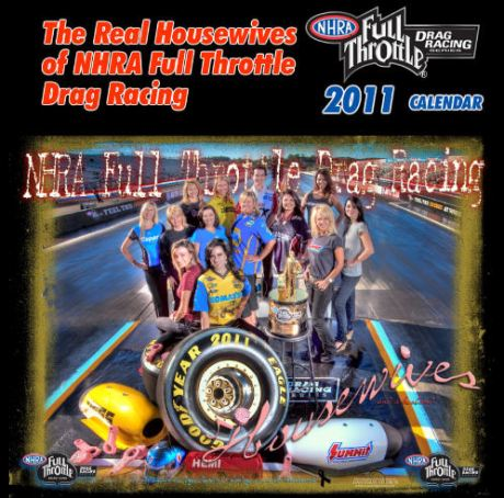 NHRA Real House Wives Calendar Cover