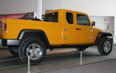 Yellow Jeep Gladiator Pickup Concept