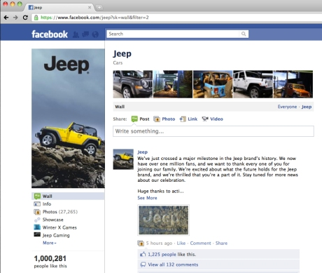 Jeep Wrangler Facebook