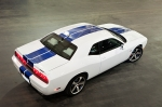 2011 Dodge Challenger SRT8 392 White with Blue Racing Stripes