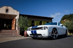 2011 Dodge Challenger SRT8 392 Blue with White Racing Stripes